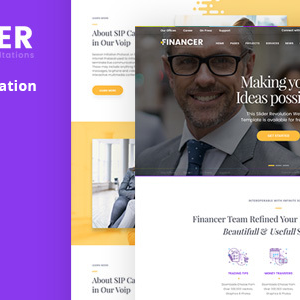 Financer Responsive Muse template